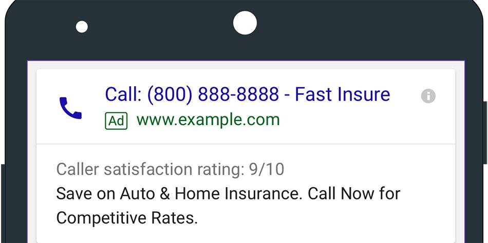 افزونه تماس یا Call Extensions در گوگل ادوردز چیست؟