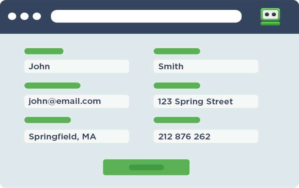 فرم ثبت نام در سایت