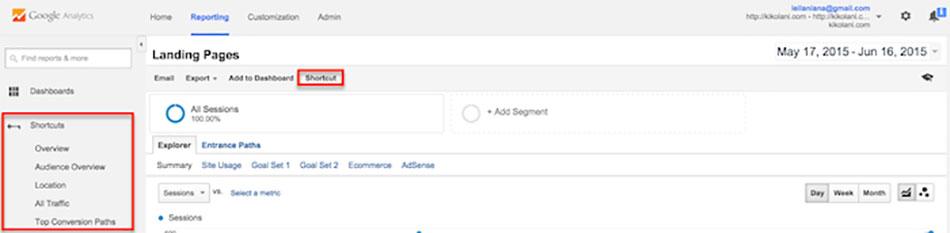 گزارشهای گوگل آنالیتیکس
