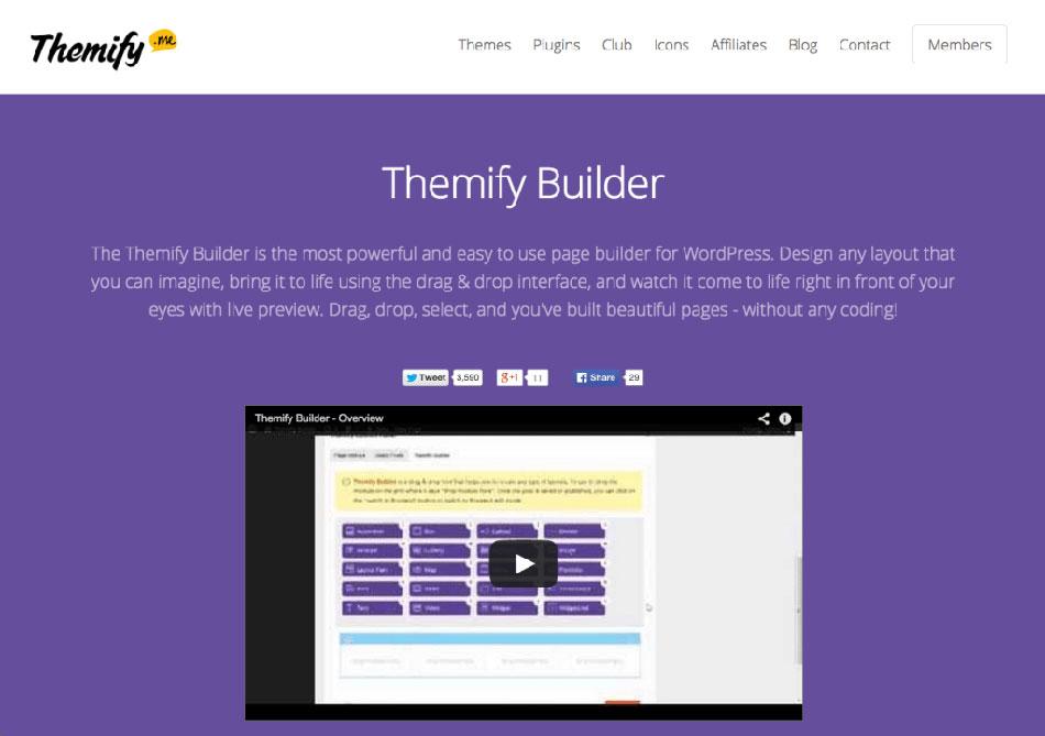 افزونه Themify Builder