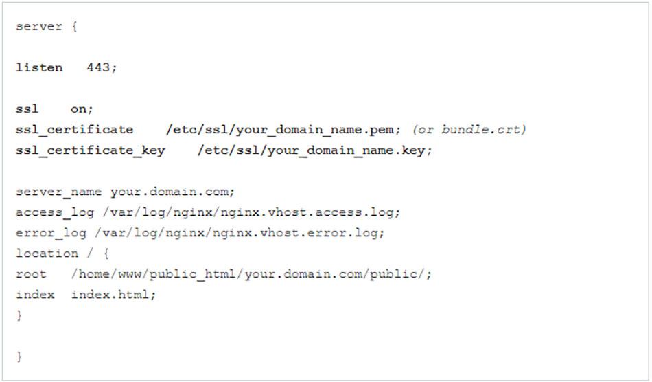 نصب گواهینامه SSL بر روی وب سرور Nginx