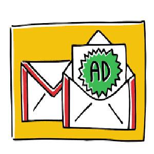 تبلیغ در gmail