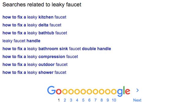 باکس عبارات مرتبط گوگل