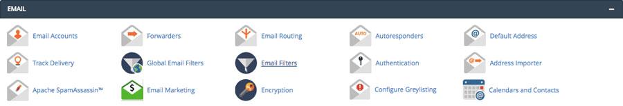 مدیریت اکانت های ایمیل در سی پنل