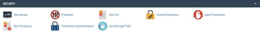 قابلیت های امنیتی در هاست سی پنل