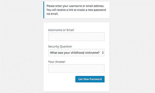 اضافه کردن سوالات امنیتی به صفحه ورود وردپرس