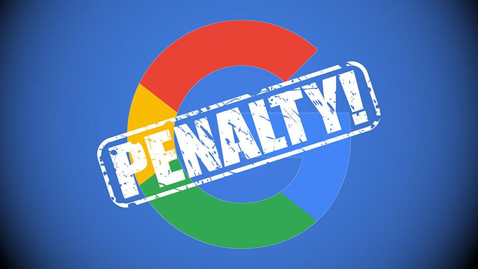 پنالتی شدن سایت توسط گوگل