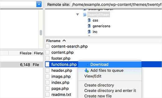 دانلود فایل از هاست با FTP