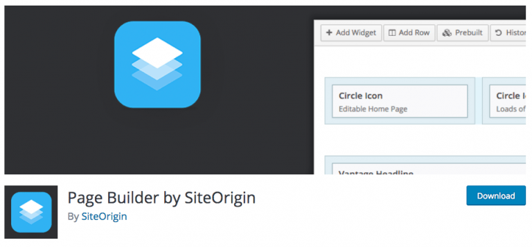 پلاگین Page Builder by SiteOrigin
