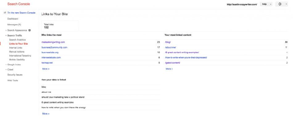 مشاهده بک لینک های سایت در سرچ کنسول گوگل