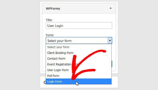 انتخاب فرم ورود به سایت