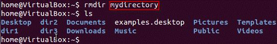 حذف دایرکتوری ها در لینوکس
