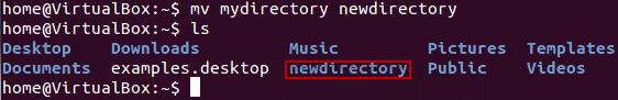 تغییر نام دایرکتوری ها در لینوکس