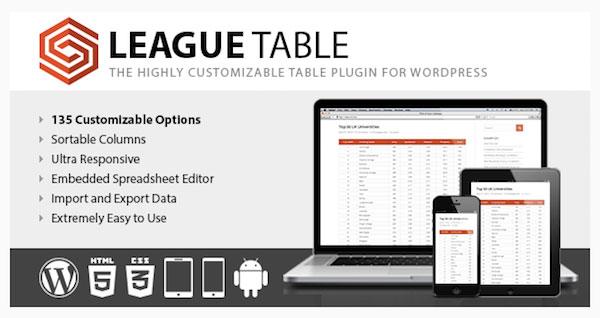 افزونه League Table