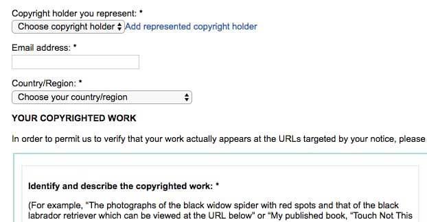 قوانین کپی رایت گوگل