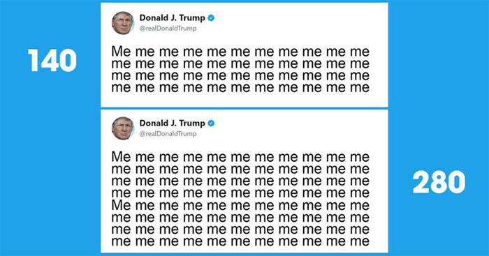 تعداد کاراکتر در توییت های توییتر