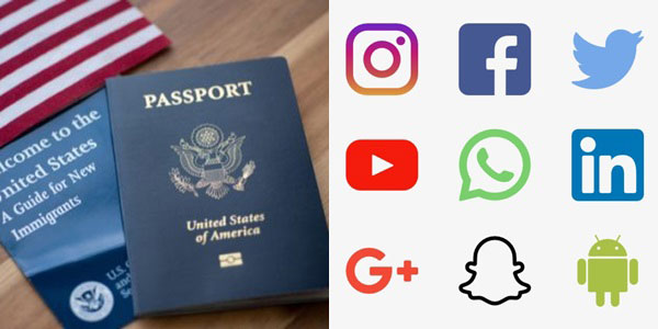 بررسی شبکه های اجتماعی شما برای گرفتن ویزای آمریکا
