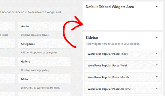Default Tabbed Widget Area