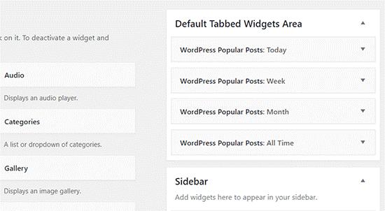 Default Tabbed Widget Area