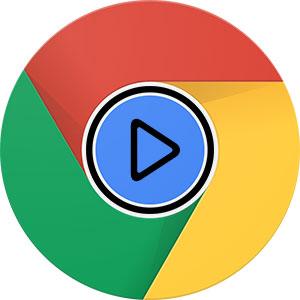 دکمه پخش ویدئو در گوگل کروم