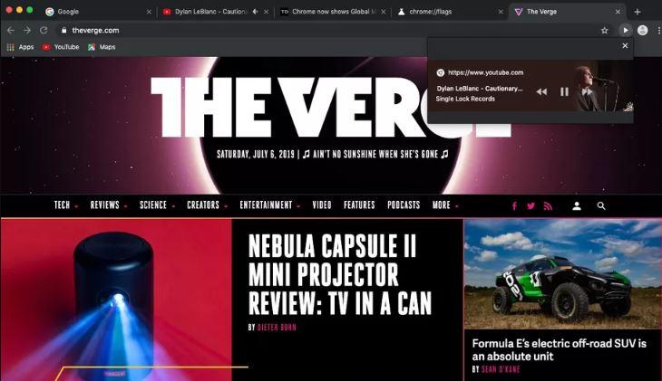 دکمه پخش ویدئو در سایت TheVerge
