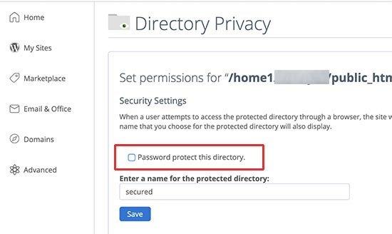 غیرفعال کردن password-protection در سی پنل