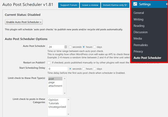 تنظمیات زمانبندی انتشار چند پست در وردپرس