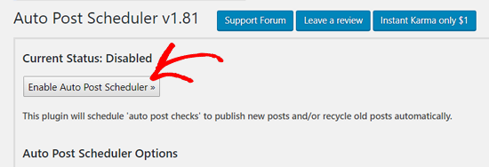 enable auto post scheduler in wp