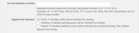 select eligible posts to schedule