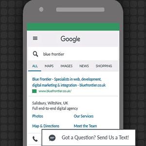message extension گوگل ادز