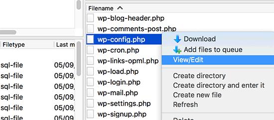 ویرایش فایل wp-config وردپرس