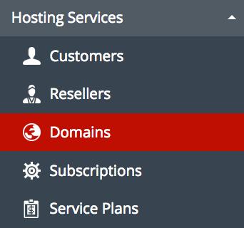Domains in plesk