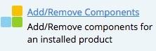 add remove components in plesk