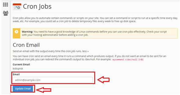 تنظمیات ارسال ایمیل در Cron jobs
