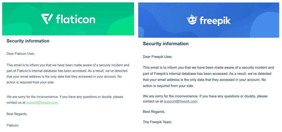 ایمیل بیانیه افشای اطلاعات کاربران سایت فری پیک