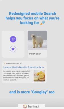 ریدایزن گوگل برای صفحه سرچ موبایل