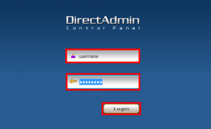 DirectAdmin-Login