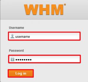 WHM-Login