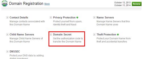 Domain-secret