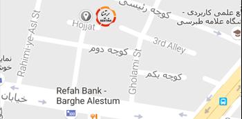 نقشه گوگل آدرس شرکت برتینا